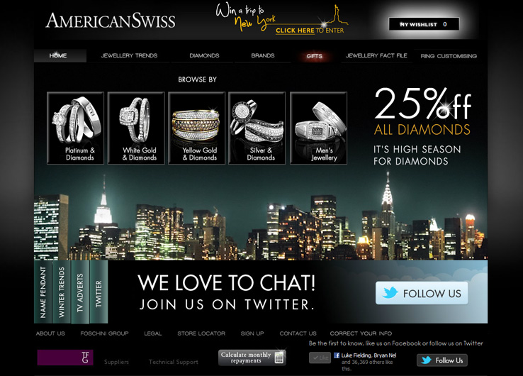 Techsys Digital Mobile American Swiss Diamonds Promotion