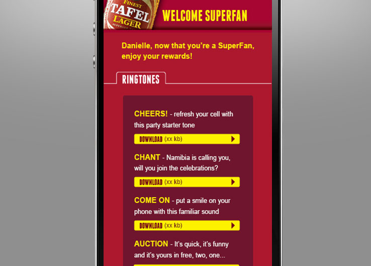 Techsys Digital | Competitions | Tafel Lager | Superfan